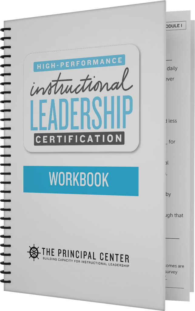 High Performance Instructional Leadership Certification 2018 The